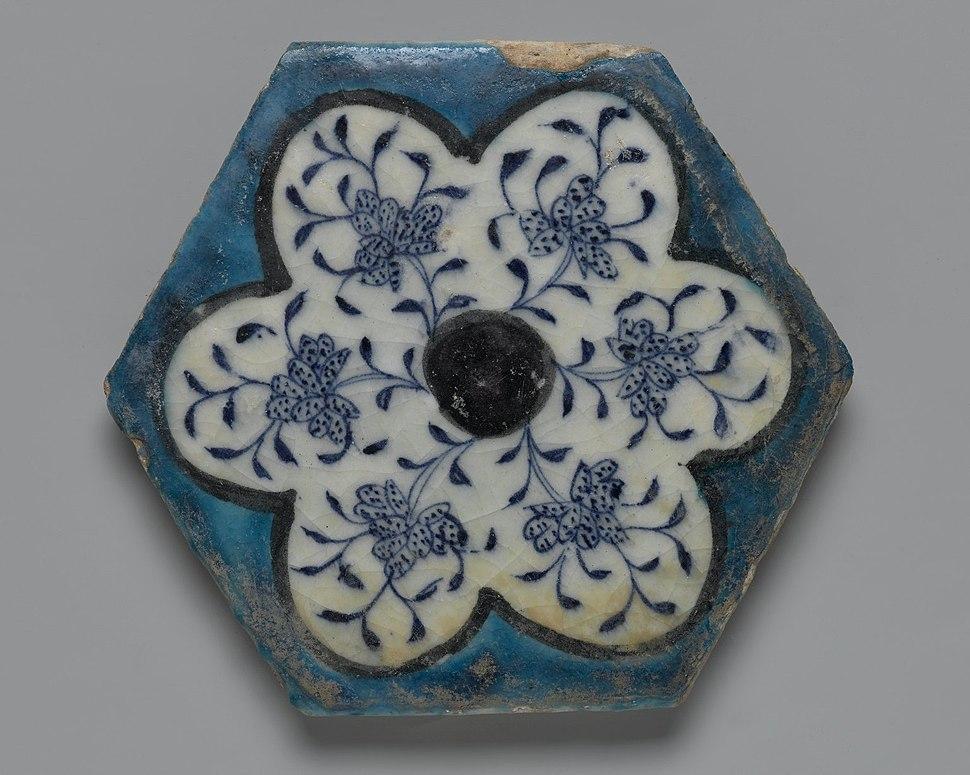 Hexagonal Tile, mid 15th century.