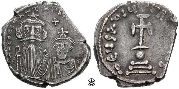Hexagram-Constans II and Constantine IV-sb0995