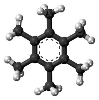 Hexamethylbenzene - Image: Hexamethylbenzene 3D ball