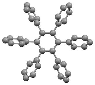 Hexaphenylbenzene - Image: Hexaphenylbenzene xtal