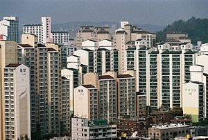 Jangan-dong - Image: High rise apartments in Jangandong, Dongdaemun gu, Seoul, South Kor