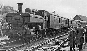Highworth - Rail tour at Highworth in 1954