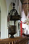 hilvarenbeek - vrijthof 28 - st. petrus-bandenkerk - preekstoel