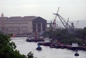 Economy of Andhra Pradesh - Hindustan Shipyard at Visakhapatnam