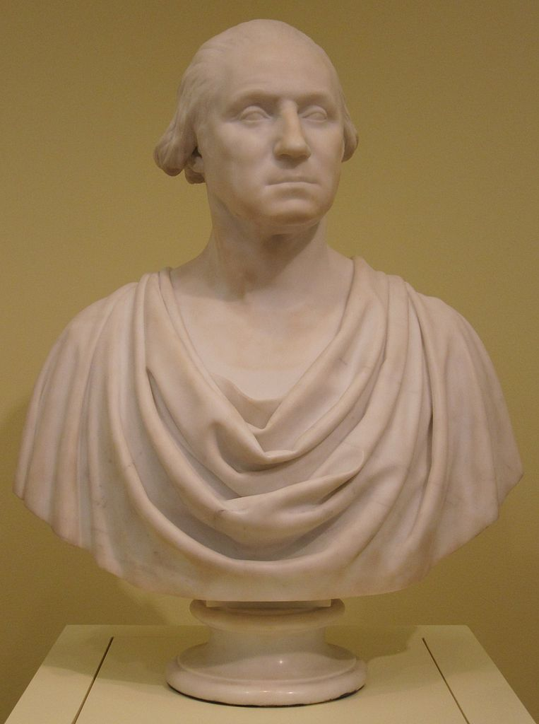 File Hiram Powers Marble Bust Of George Washington C