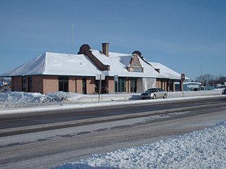 Detroit Lakes, Minnesota - Historic Detroit Lakes Amtrak Depot in winter