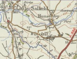Hunsonby - Historical Map on Hunsonby, published in 1945 by Ordnance Survey of Great Britain.