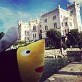 Hobee in front of Miramare Castle.jpg