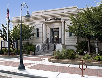 Hollister, California - Hollister's city hall is housed in the city's historic Carnegie Library, built in 1906.