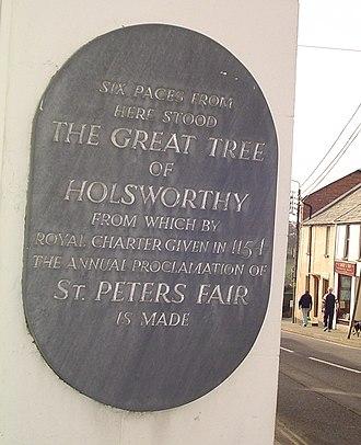 Holsworthy, Devon - Great Tree Plaque