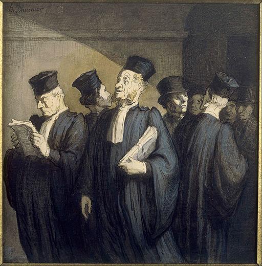 Honoré Daumier - Avant l'audience - Google Art Project