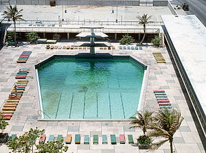 Hotel Habana Riviera - The pool from above c. 1973.