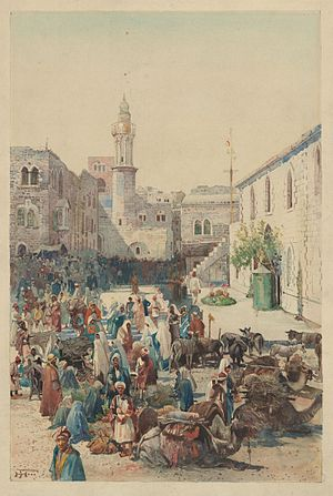 Henry van Dyke Jr. - Illustration by Harry Fenn from Out-of-Doors in the Holy Land, 1908