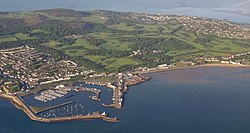 Aerial photo of Howth and harbour