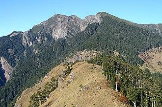 Xueshan - Snow Mountain as seen from Xueshan E. peak