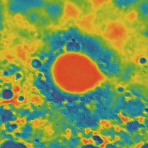 Mare Humorum - Image: Humorum basin GRAIL gravity