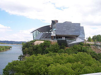 Chattanooga, Tennessee - Contemporary extension of the Hunter Museum of American Art