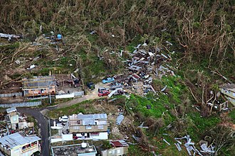 Hurricane Maria - Thousands of homes suffered varying degrees of damage while large swaths of vegetation were shredded by the hurricane's violent winds