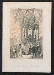 Huwelijksvoltrekking in de Kapel van Bourgondië te Antwerpen