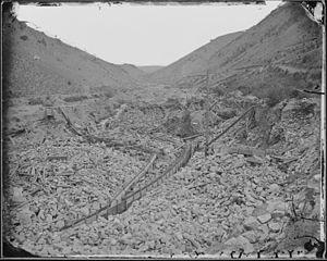 Alder Gulch - Placer mining in Alder Gulch, 1872