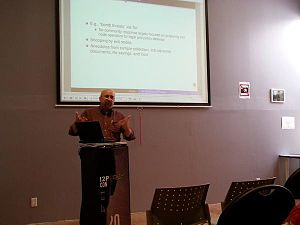 I2P - David Dagon presenting at the first I2Pcon.