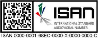 International Standard Audiovisual Number - Example ISAN with two-dimensional barcode