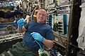 ISS-42 Barry Wilmore holds a 3-D printed ratchet wrench in the Destiny lab.jpg