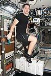 ISS-51 Thomas Pesquet exercises on the Cycle Ergometer in the Destiny lab.jpg