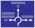 IS 10b - Návestná tabuľa, umiestnenie vedľa vozovky.png