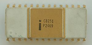 Controller (computing) - Intel C8251 Universal Synchronous/Asynchronous Receiver/Transmitter (USART) chip