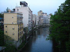 Iizaka, Fukushima - Image: Iizaka, Fukushima Onsen Hotels