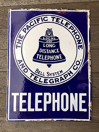 Pacific Bell - Pacific Telephone logo used from 1908-1921