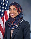 Ilhan Omar, official portrait, 116th Congress (cropped) A.jpg