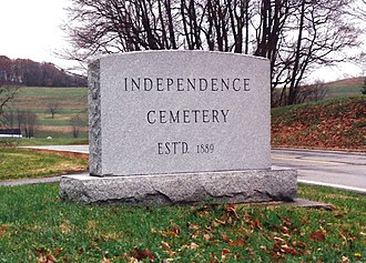 Avella, Pennsylvania - Entrance to Independence Cemetery near Avella