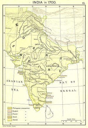 Empire - Image: India in 1700 Joppen
