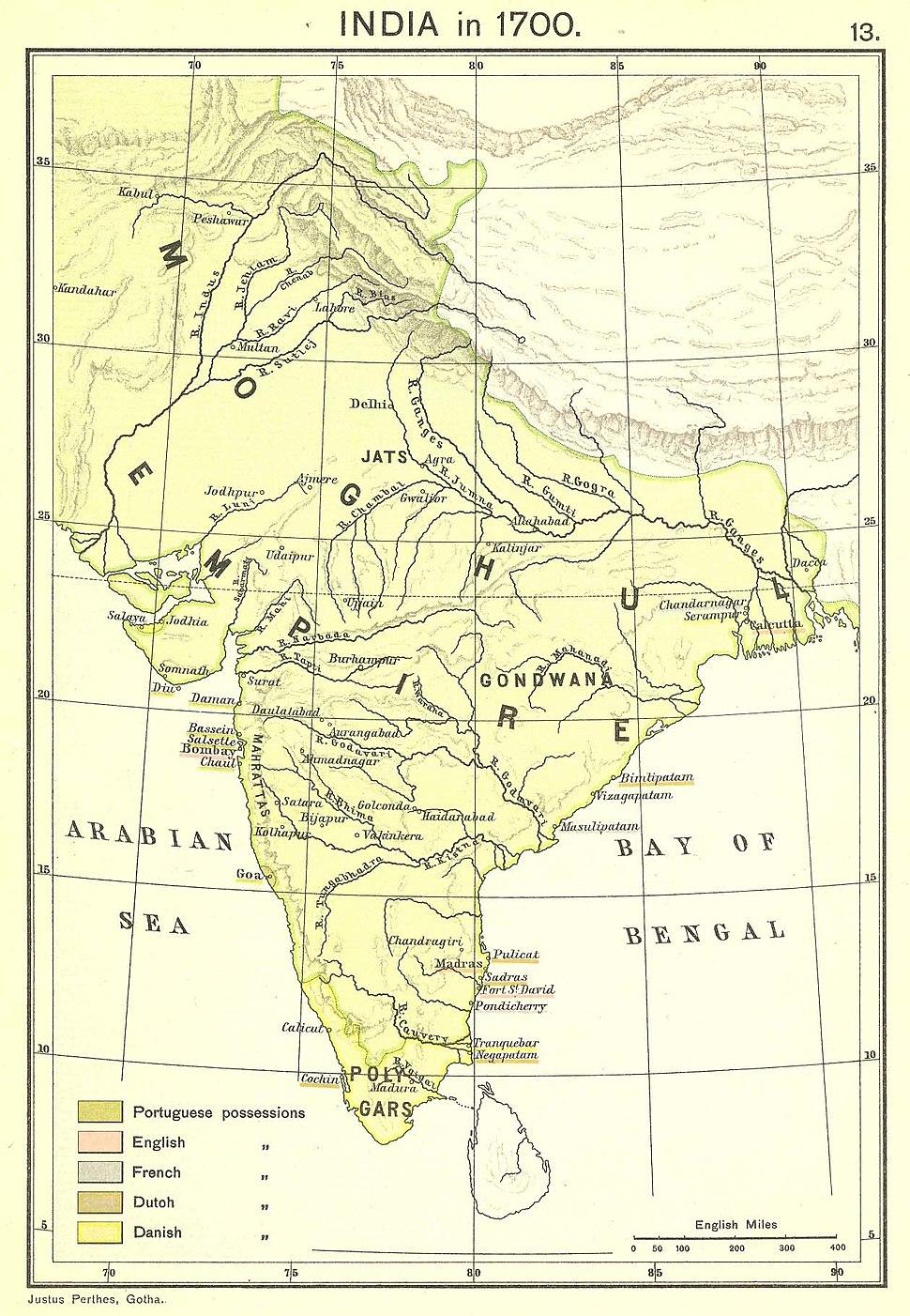 India in 1700 Joppen