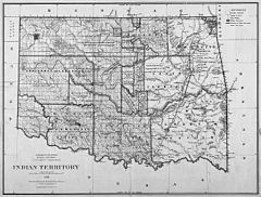 1885 government map of indian territory