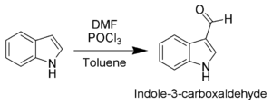 Vilsmeyer-Haack formylation of indole