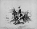 Infante D. Afonso Henriques, Duque do Porto, montando a cavalo com casaca à século XVIII (1892).png