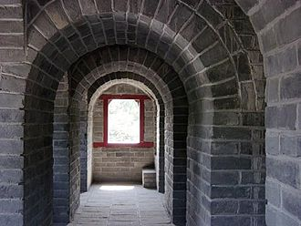 Arch - Semi-circular arches using limestone block construction at the Great Wall, China