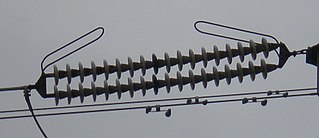 Arcing horns component of the electrical power system
