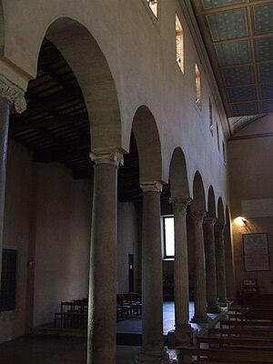 San Giorgio in Velabro - Interior of San Giorgio.
