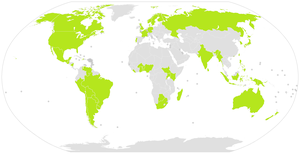 International Lutheran Council - Light green countries are home to one or more members or associate members of the International Lutheran Council