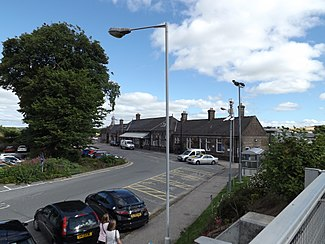 Inverurie railway station (front), August 2013.JPG