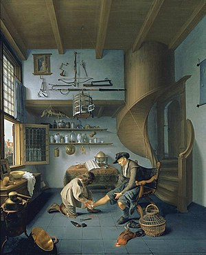 Isaac Koedijck - Barber surgeon tending a peasant's foot (c.1649-1650), collection Peabody Essex Museum