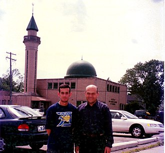Islamic Center of America - The center's original 1963 mosque in Detroit is pictured in the background.