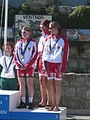 Island Games 2011 women's team Town Centre Criterium cycling bronze medal winners.JPG