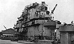 Island of USS Princeton (CVS-37) at the Puget Sound Naval Shipyard, in 1956.jpg