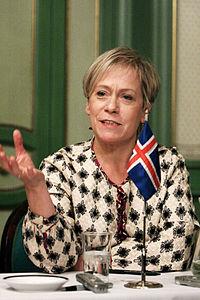 Islands utrikesminister Ingibjorg Solrun Gisladottir vid Nordiska Radets session i Oslo. 2007-10-31. Foto- Magnus Froderberg-norden.org.jpg