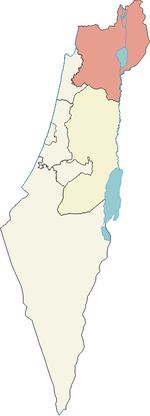 Localisation de District nord en Israël